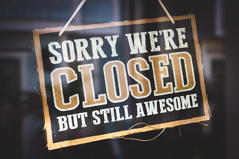 TKC - Closed today come back soon