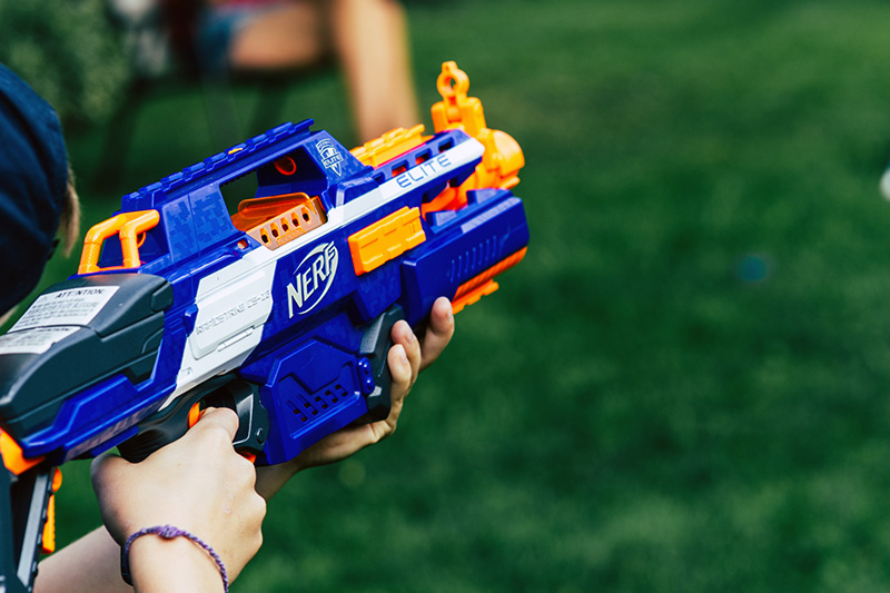 Pick your weapon - Nerf gun or Laser tag at The Kids' Castle