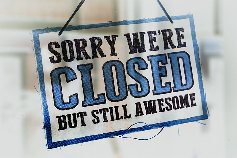 Sorry Kids Castle is Closed today